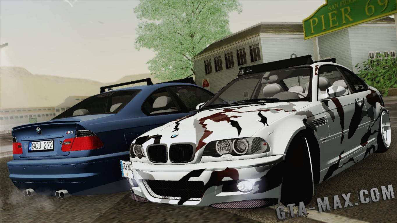 [Elegy] BMW M3 E46 Coupe 2005 Hellaflush v2.0 для GTA San Andreas
